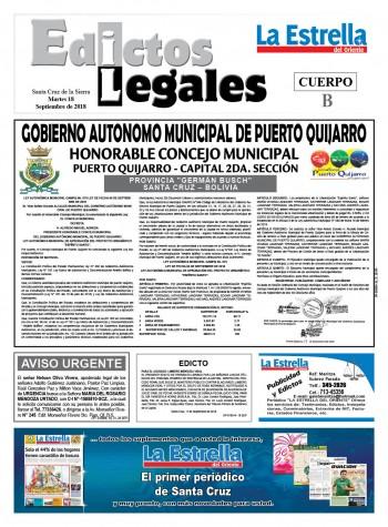 Edictos Legales 18-9-2018