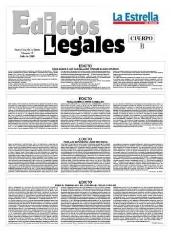 Edictos Legales 19-7-2019