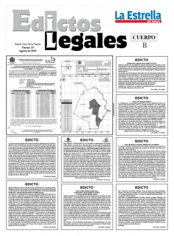 Edictos Legales 23-8-2019