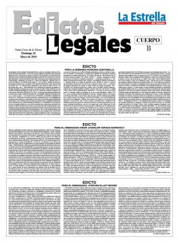 Edictos Legales 26-5-2019