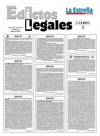 Edictos Legales 26-3-2019