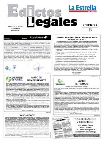 EDICTOS JUDICIALES 14-03-2021