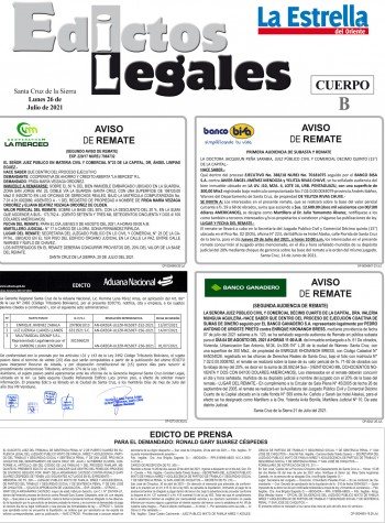 EDICTOS JUDICIALES 26-07-2021