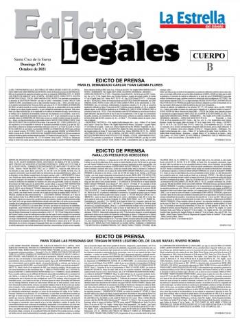 EDICTOS JUDICIALES 17-10-2021