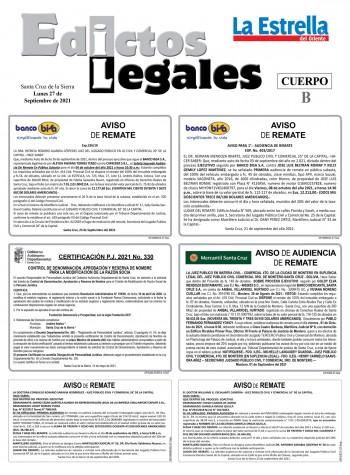 EDICTOS JUDICIALES 27-09-2021
