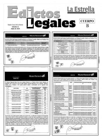 Edictos Legales 11-7-2020
