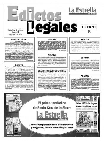 Edictos Legales 12-12-2019