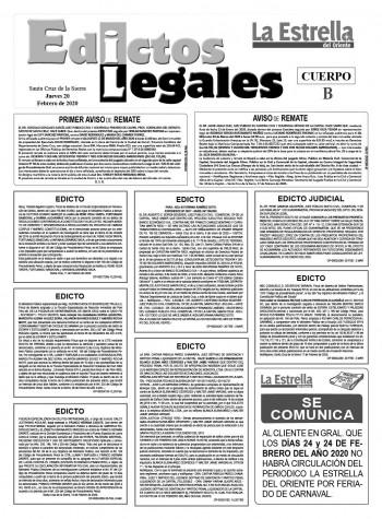 Edictos Legales 20-2-2020