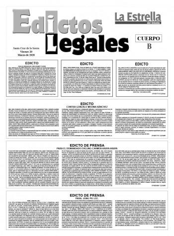 Edictos Legales 20-3-2020