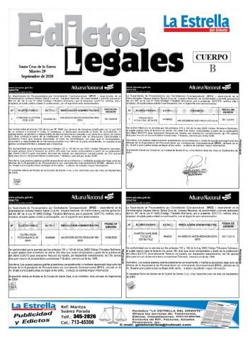 Edictos Legales 29-9-2020
